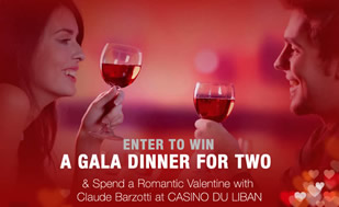 The winner of an unforgettable Valentine night will be announced on Monday! Enter & win!