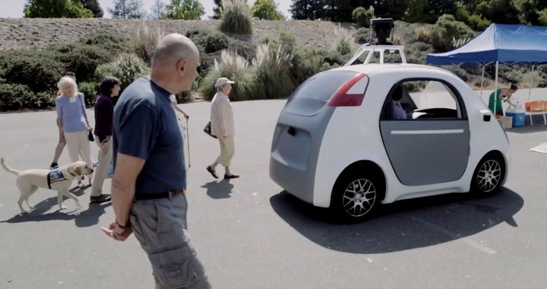 Google's self-driving prototype car.