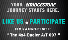 WIN A COMPLETE SET OF 4x4 DUELER A/T 697
