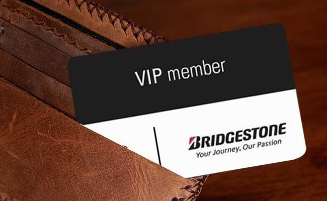 Buy a set of Bridgestone tires, and benefit from your FREE VIP card!