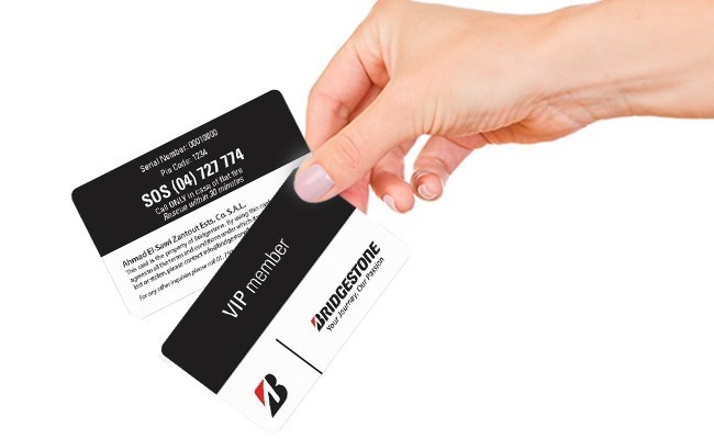 Bridgestone offers you the best solution for your tires in Lebanon! Check our VIP card