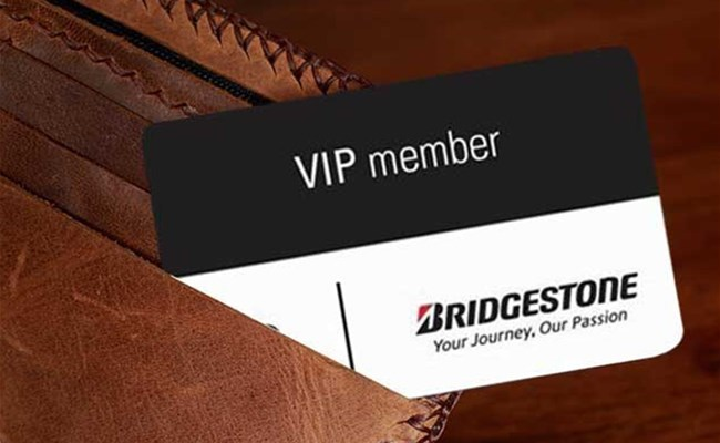 Activate your VIP card and benefit from Bridgestone's services
