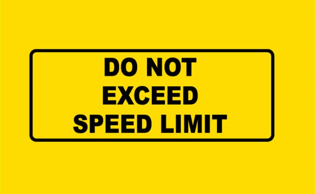 Excessive Speed is a Major Cause of Road Crashes... Watch Out!