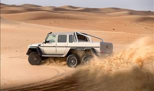 Mercedes-Benz G63 AMG 6x6 : The new extreme desert storming super-SUV
