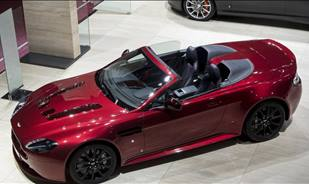 The V12 Vantage S Roadster and the Vanquish Coupe Carbon special edition at Paris motor show