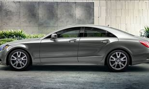 The Mercedes-Benz CLS makes a powerful statement