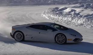 Drifting in the snow Awesome video