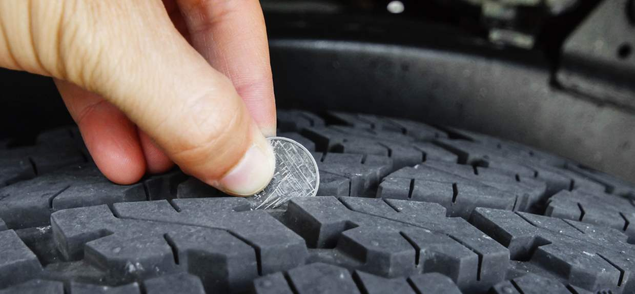 Learn how to check your tire tread with this life hack from Bridgestone