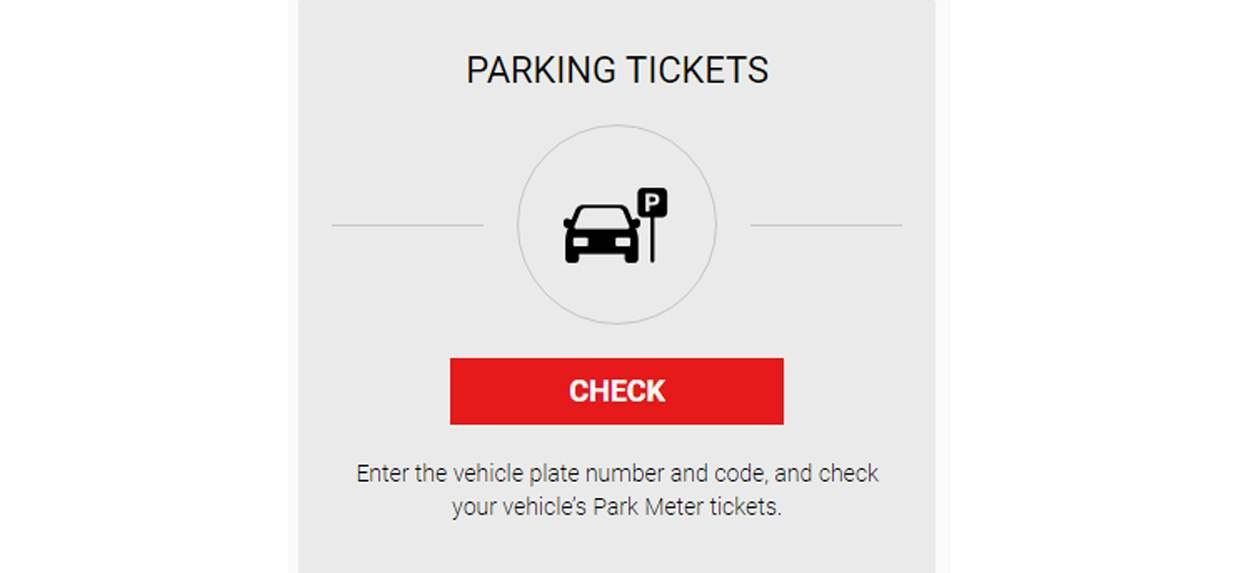 Check your vehicle's Park Meter tickets on our website