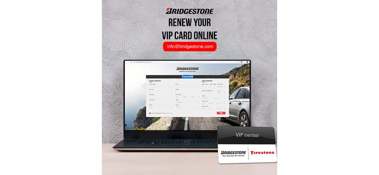 Renew your VIP card online for FREE!